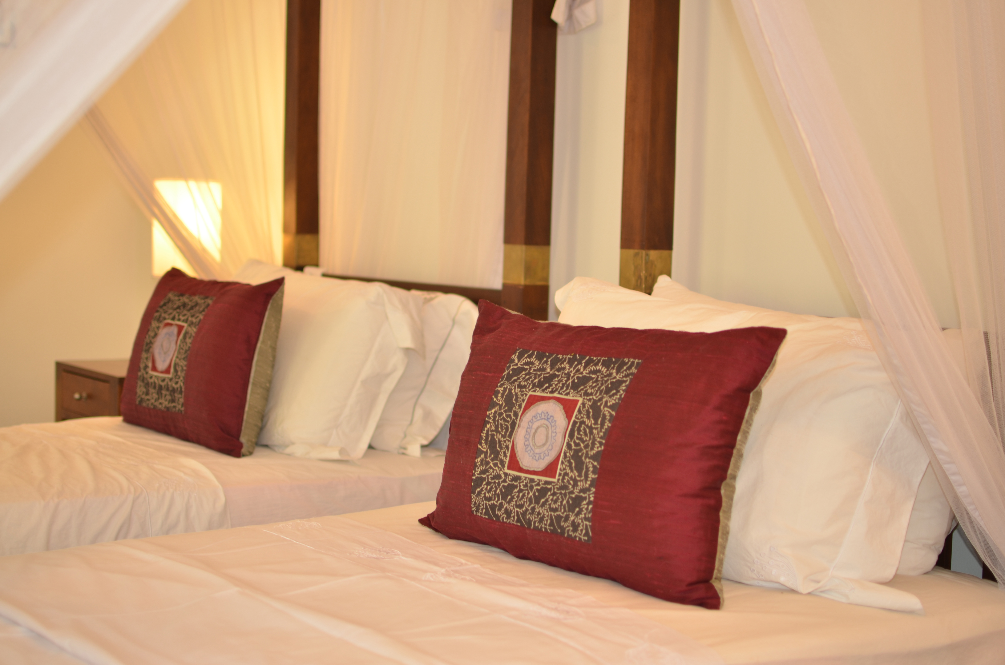 Luxury cotton linen ensures a good night sleep.