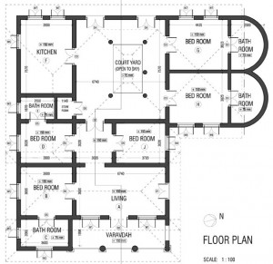 Floorplan of Sakara House