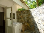 Courtyard bathroom