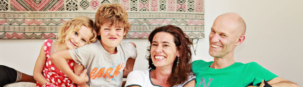 Family Antoni: Grace, Miles, Lindsay, Carsten